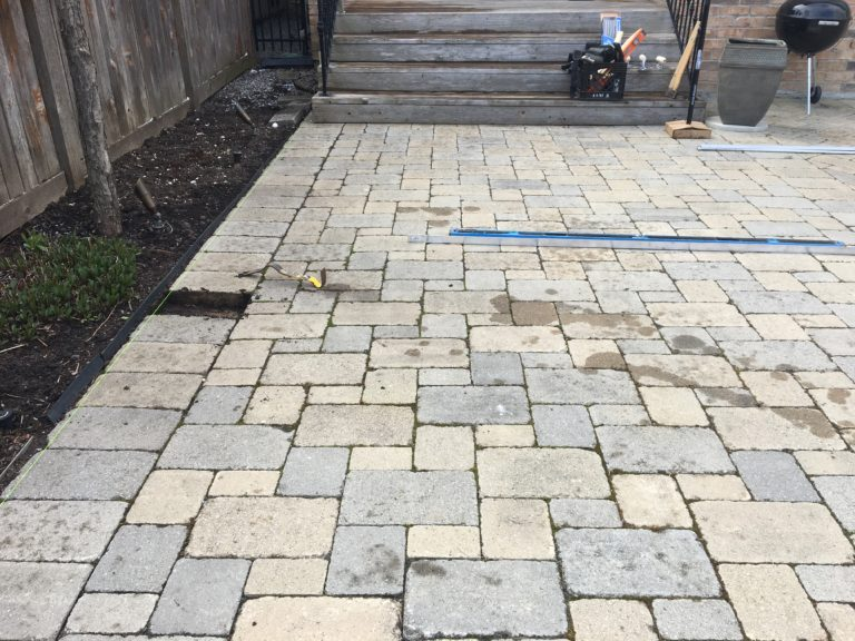 Repairing uneven pavers