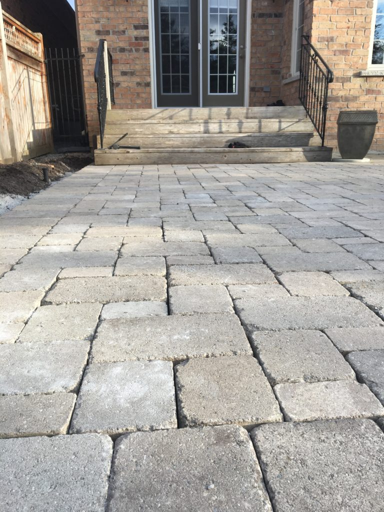 Repaired Paver Patio after being leveled